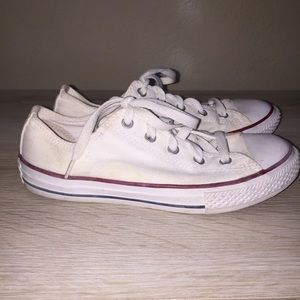 White Converse All Star Youth Size 3 Shoes